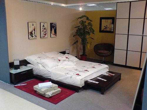 спальня в японском стиле, фото