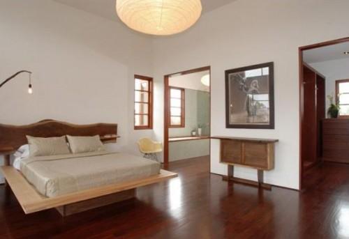 дизайн спальни в японском стиле, фото