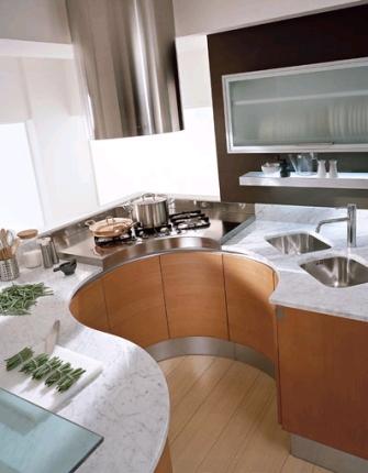 круглые кухонные гарнитуры