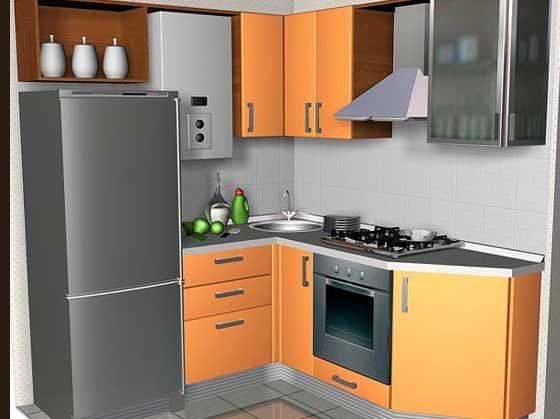 Кухни с газовой колонкой фото дизайн