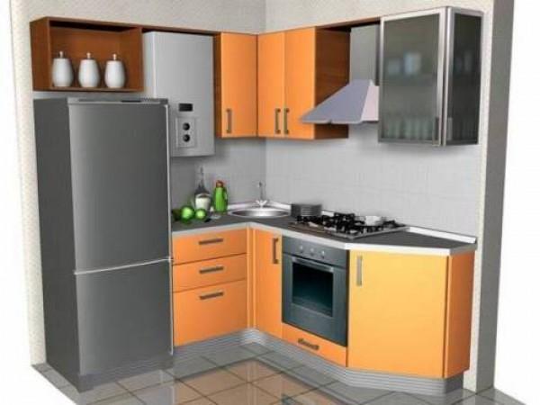 Дизайн интерьера кухни с газовой