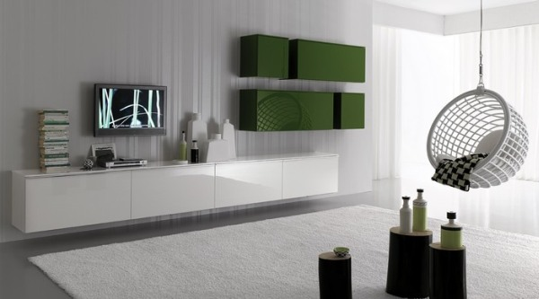 белая гостиная мебель