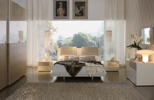 Интерьер спален в теплых тонах