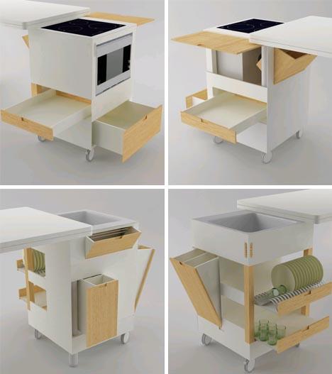 раздвижной обеденный стол Rubika для маленьких кухонь, фото