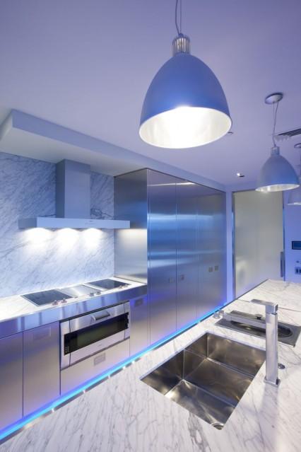 подсветка кухни фото