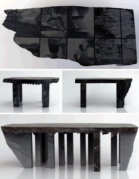 оригинальный стол из камня, фото