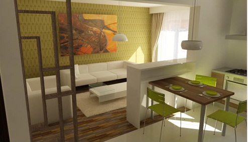 зонирование гостиной комнаты
