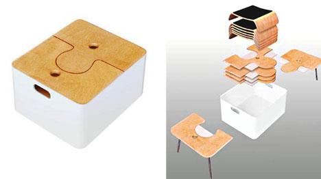 стол пазл, раздвижная мебель