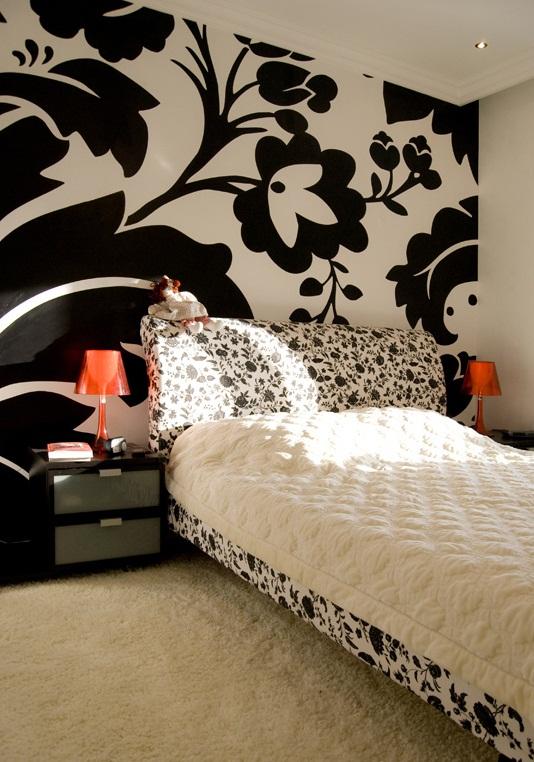 Дизайн спальни черно белые