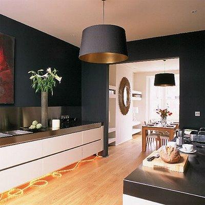 Черные кухни дизайн интерьера кухни в