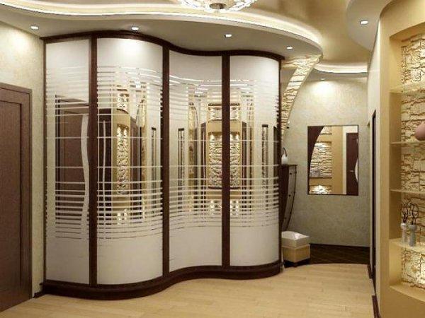 Дизайн углового шкафа для прихожей
