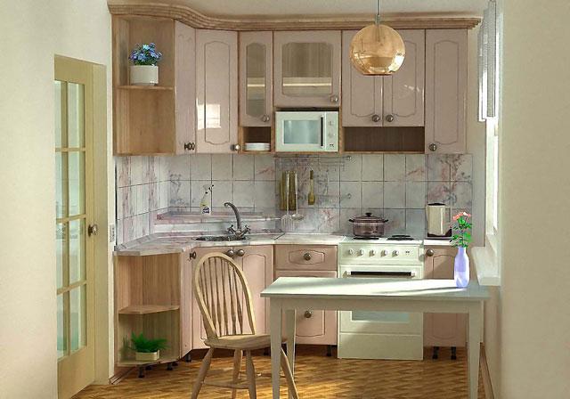 проект кухни в хрущевке, фото
