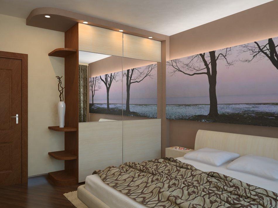 Дизайн спальни салатовый