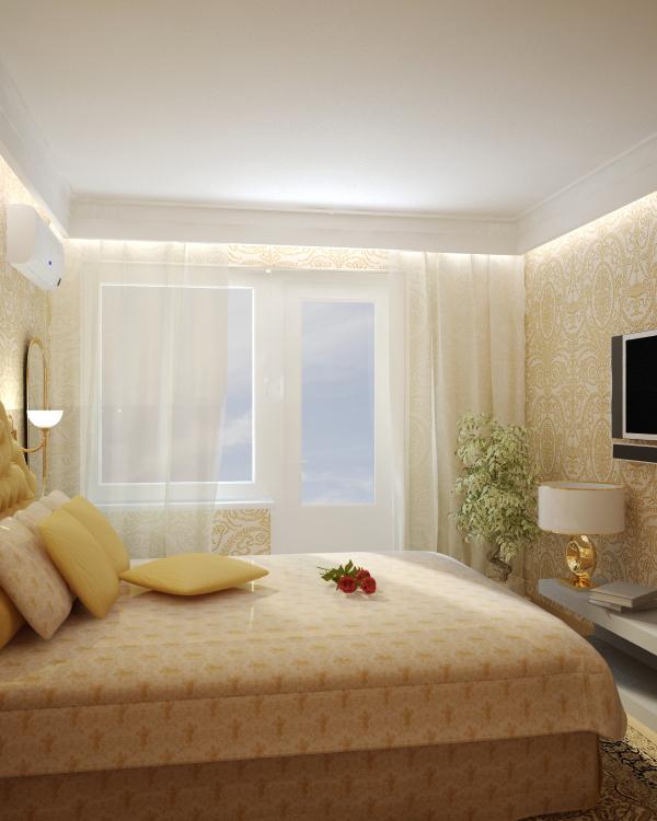 Дизайн интерьера спальни в хрущевке фото - интернет-журнал i.
