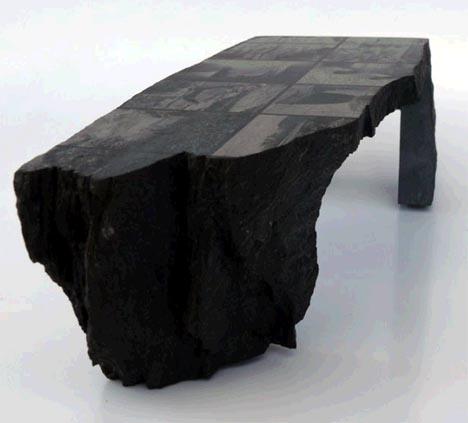 Оригинальный стол из натурального камня, фото