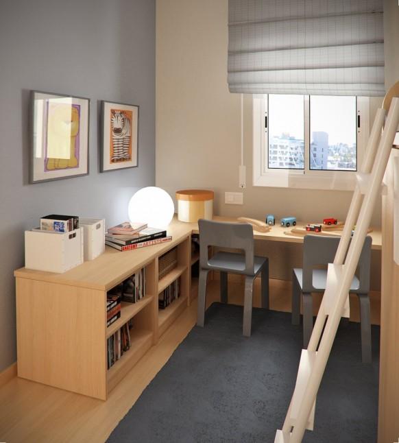 небольшие детские комнаты
