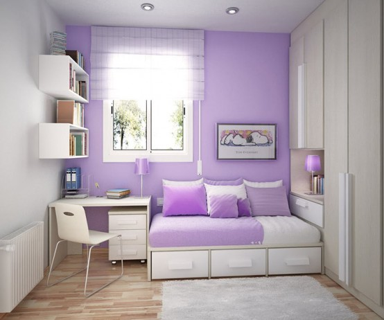 фиолетовая детская комната, фото