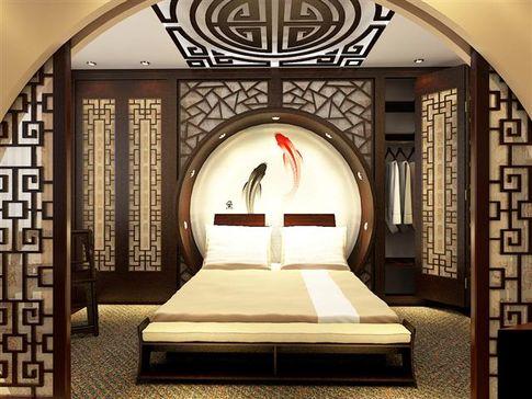 Дизайн спальни стен из гипсокартона