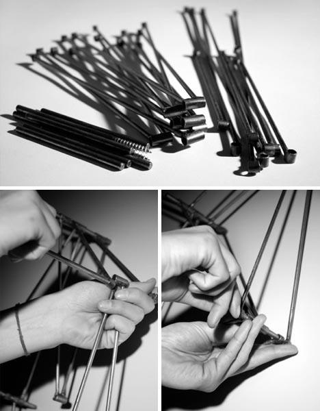 модульные полки из металлических прутов