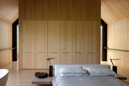 отделка стен деревом в интерьере