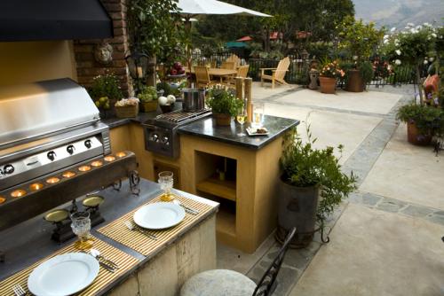 кухни в саду