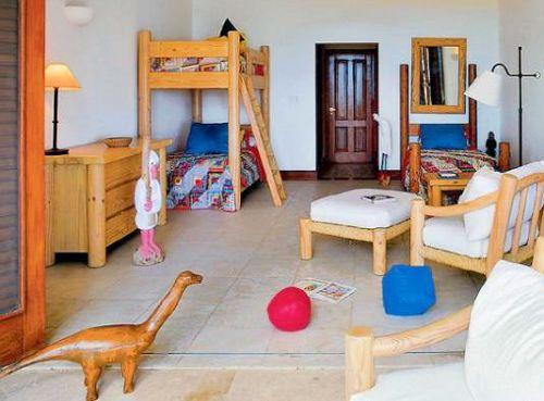 интерьер детской для троих детей