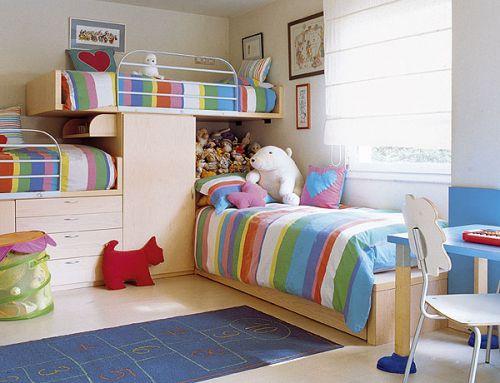 детская комната для троих детей