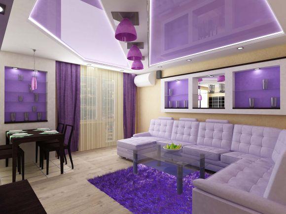 дизайн однокомнатной квартиры 50 кв.м фото #17